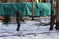 Монтаж колеса обозрения в ЦПКиО. 25 февраля 2014, Фото: 8