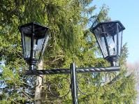 В Комсомольском парке посёлка Заокский испорчены новые фонари, Фото: 3