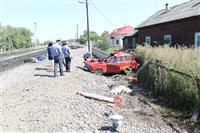 В Узловском районе поезд протаранил легковушку, Фото: 11