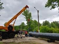 В Туле меняют аварийный участок трубы, из-за которого отключали воду в Пролетарском округе, Фото: 8