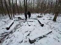 В Тульском лесу нашли загадочную поляну с крестами, елкой и зеркалами, Фото: 11