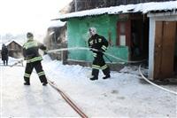 Пожар в жилом бараке, Щекино. 23 января 2014, Фото: 13