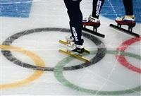 Российские спортсмены на тренировке сборной по шорт-треку перед началом XXII зимних Олимпийских игр в Сочи., Фото: 16