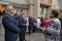 Алексей Дюмин посетил дом в Ясногорске, восстановленный после взрыва, Фото: 2
