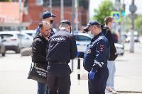 Полицейский рейд в тульских маршрутках: на пассажиров без масок составляют протоколы, Фото: 41