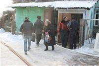 Пожар в жилом бараке, Щекино. 23 января 2014, Фото: 12