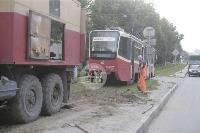 Авария с трамваем на ул. Металлургов, Фото: 2