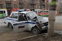 В Туле машина ДПС протаранила столб, Фото: 5