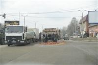 На Рязанской на дорогу рассыпалась гора кирпича, Фото: 9