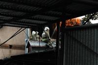 Пожар в доме по ул. Рабочий проезд. 27 сентября, Фото: 1