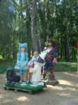 В Центральном парке поселились Красная шапочка, баба Яга и кот Леопольд, Фото: 1