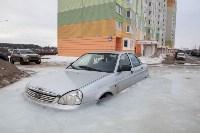 Машина вмерзла в лед, Фото: 8