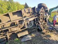 В Тульской области фура влетела в автобус: перекрыта трасса М-2, Фото: 7