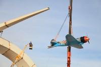 Установка копии Ла-5ФН на несущую опору мемориала «Защитникам неба Отечества» , Фото: 19