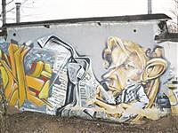 Вот уже который год на серой стене при въезде в Тулу по Московской трассе серьезный зареченец пролистывает номер The Independent (ориентир – ул. Октябрьская, 300)., Фото: 13