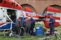 В кремле приземлился вертолет, который установит шпиль колокольни, Фото: 11