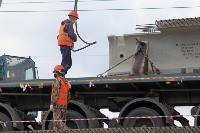 Восточный обвод: Строительство моста через Упу, Фото: 6