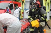 В Туле сотрудники МЧС эвакуировали госпитали госпиталь для больных коронавирусом, Фото: 37