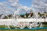 Кованая композиция «Лебеди» у ротонды, Фото: 9
