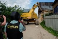 В Плеханово начали сносить дома в цыганском таборе, Фото: 60