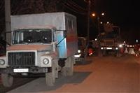 Глубина провала на Одоевском шоссе в Туле - примерно 3 метра, Фото: 13