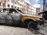 Сгоревшие сараи на улице Немцова в Туле, Фото: 2