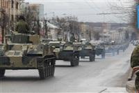 По Туле прошла колонна военной техники, Фото: 10