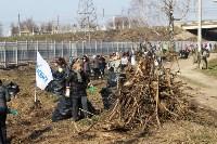 Генеральную уборку в Туле на Пролетарской набережной провели работники КБП, Фото: 24