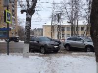 моя машина стояла справа, где сейчас серенькая, только более перпендикулярно дороге, Фото: 2