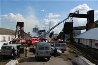 Пожар на хлебоприемном предприятии в Плавске., Фото: 32