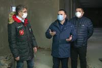Дмитрий Миляев проверил, как идет ремонт вечерней школы на ул. Зорге, Фото: 17