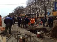Порыв водопровода на пр. Ленина 4 апреля 2014, Фото: 6