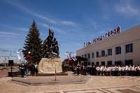 Открытие монумента и бронепоезда на Московском вокзале. 8 мая 2015 года, Фото: 16