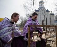 Митрополит Алексий освятил колокола храма в поселке Рождественский, Фото: 16