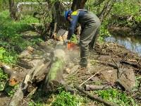 В Туле ведется расчистка Щегловского ручья от мусора, Фото: 10