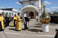 В тульской колонии освятили купола храма, Фото: 2