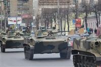 По Туле прошла колонна военной техники, Фото: 3