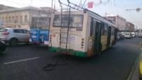 ДТП троллейбус столкнулся с Фольксвагеном, Фото: 1