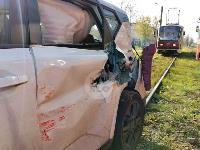 В Туле на ул. Кирова трамвай протаранил легковушку, Фото: 6