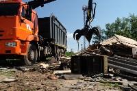 В Плеханово начали сносить дома в цыганском таборе, Фото: 98