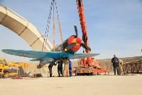 Установка копии Ла-5ФН на несущую опору мемориала «Защитникам неба Отечества» , Фото: 2