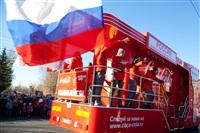 Второй этап эстафеты олимпийского огня: Зареченский район, Фото: 43