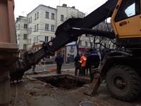 Порыв водопровода на пр. Ленина 4 апреля 2014, Фото: 4
