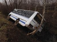 В Тульской области перевернулся пассажирский автобус, Фото: 1