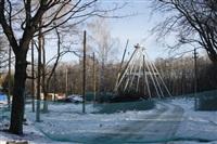 Монтаж колеса обозрения в ЦПКиО. 25 февраля 2014, Фото: 2