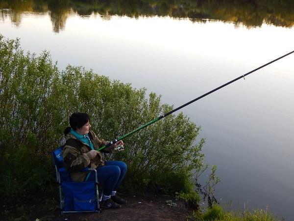 Пробую рыбачить))