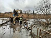 Паводок отступает: транспортное сообщение по мостам в Одоевском и Суворовском районах восстановлено, Фото: 10