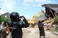 В Плеханово начали сносить дома в цыганском таборе, Фото: 78