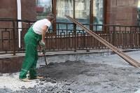 На ул. Советской меняют тротуарную плитку, Фото: 1