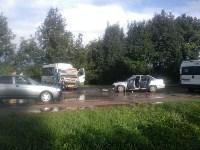 На Орловском шоссе столкнулись «Дэу» и микроавтобус, Фото: 3